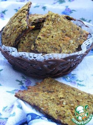 Как приготовить Пряные постные хлебцы простой рецепт с фотографиями