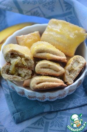 Банановое печенье пошаговый рецепт с фотографиями