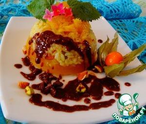 Рецепт Рисовое желе с фруктами