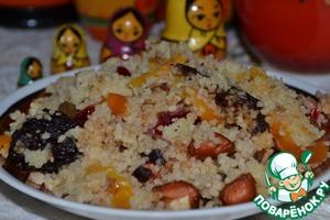 Рецепт Кус-кус с сухофруктами и орехами