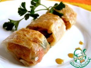 Рецепт Спринг-роллы с овощами, кус-кусом и зеленью