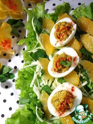 Рецепт Зелёный салат с яйцами-карри