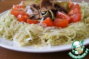 """Рецепт Смешанный салат под соусом """"винегрет"""""""