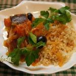 Рыба, тушёная с оливками