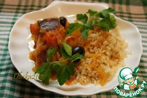 Рецепт Рыба, тушёная с оливками