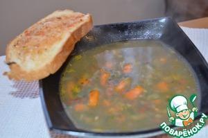 Рецепт Суп из шпината с фасолью