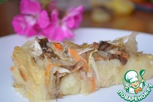 Рецепт Картофельный пирог с квашеной капустой