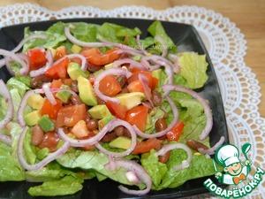 Рецепт Салат из фасоли и помидоров