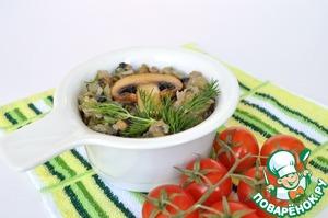 Рецепт Постная запеканка из грибов и риса от послушницы Ачаирского монастыря