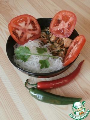 Рецепт Куриное филе со свининой и грибами