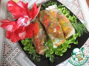 Рецепт Спринг роллы с овощами карри
