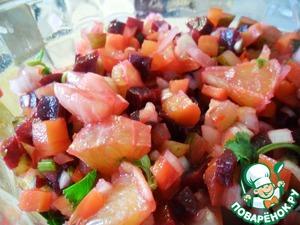Рецепт Винегрет с апельсином и кинзой