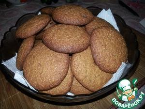 Рецепт Простое мягкое овсяное печенье