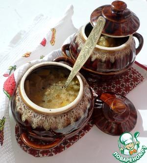 Рецепт Постный фасолево-рисовый супчик в горшочке