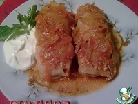 Голубцы в мультиварке в томатно сметанном соусе