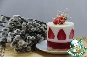 Рецепт Клубнично-кокосовый десерт с карамелью