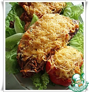 Рецепт Курица, фаршированная овощами