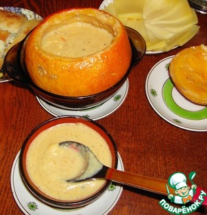 Рецепт Суп сырный в тыковке