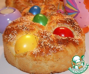 Рецепт Итальянский хлеб Пасхи