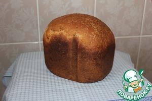 Рецепт Хлеб отрубной с цельнозерновой мукой и с семенами льна, кунжута и подсолнечника