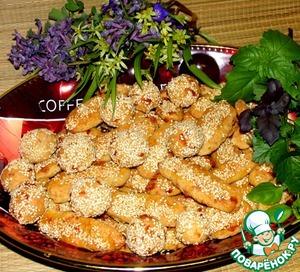 Рецепт Овсяное печенье с рикоттой и сыром к пиву
