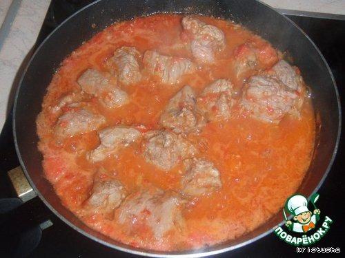 Соус с мясом для спагетти