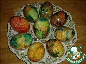 """Рецепт Пасхальные """"мраморные"""" яйца"""