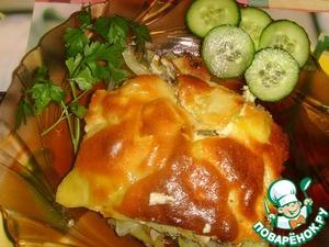Рецепт Запечёный картофель с курицей, шампиньонами и прованскими травами