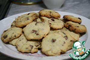 Рецепт Печенье с шоколадными кусочками