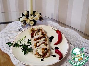 Рецепт Куриные грудки с песто, шпинатом и рикоттой по-генуэзски