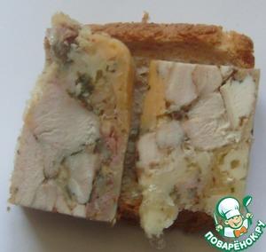 Рецепт Ветчина куриная с сыром