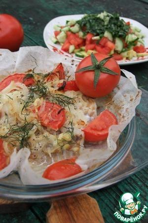 Рецепт Запеченная рыба с сальсой из овощей