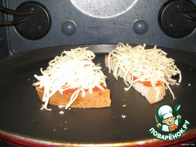 горячие бутерброды в духовке рецепт с фото пошагово в
