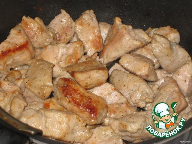Рецепт приготовления с фотографиями Жаркое в съедобном горшочке