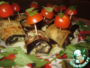 Рецепт Баклажанная закуска с рисом и орехами