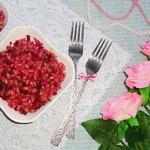 Тёплый перловый салат с овощами Розовый жемчуг