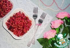 """Рецепт Тёплый перловый салат с овощами """"Розовый жемчуг"""""""