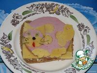 """Бутерброд """"Котeночек"""" - кулинарный рецепт"""