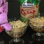 Легкий салат с пикантной заправкой