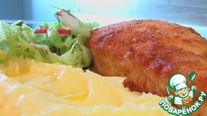 Рецепт Котлеты куриные, фаршированные куриной кнелью и грибами