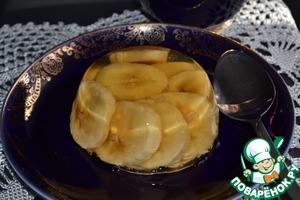Рецепт Желе из белого вина с бананами