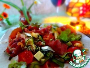 Рецепт Салат с хамоном, цуккини и сыром пармиджано