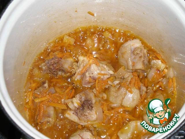 Как сделать тушеную картошку с курицей в кастрюле пошаговый