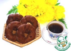 Рецепт Кофейно-шоколадные бублики с изюмом