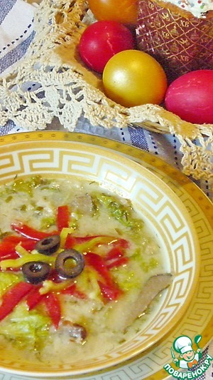 Рецепт Греческий пасхальный суп-магирица