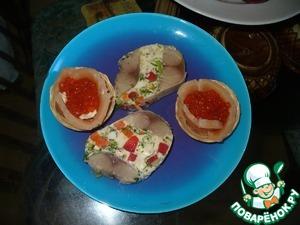 Рецепт Рулет из малосольной рыбы