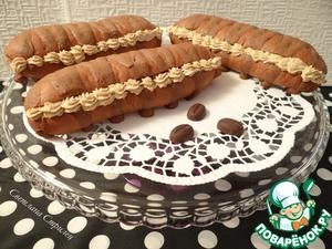 Рецепт Шоколадные булочки с кофейно-ореховым кремом
