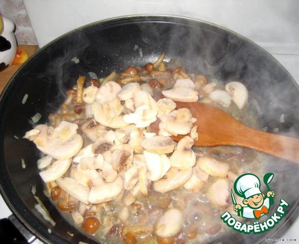 Жульен с грибами рецепт в духовке пошагово с