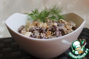 Рецепт Салат фасолевый с куриными сердечками