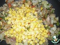 Курино-рисово-овощной ужин